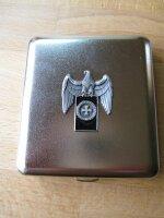 Eagle Iron Cross Black  Cigarette Case