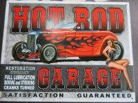 Metall Schild Hot Rod Garage Specialist Sign Ratty Rod V8