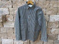 Heavy Engineer Hickory Stripe Denim Vintage Worker Jacket...
