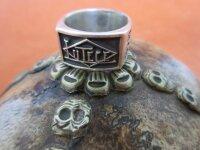 Lutece Mfg Co 1917 Ring 925 Sterling Massiv Rockabilly...