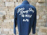 Lions Drag Strip Long Beach Race California Denim Chore...