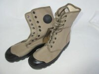 French Army Commando Boots Canvas 9-Loch oliv Indochina...
