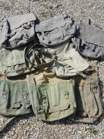 Britische Kampftasche Pack M37 Umhängetasche Vintage...