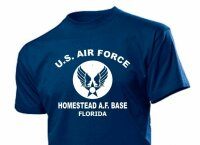 T-Shirt US Air Force Homestead Florida Airforce Base Navy Marines WK2 WW2 S-XXL