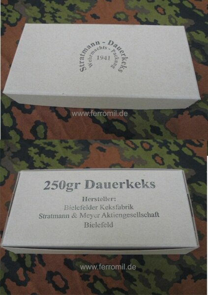 Dauerkeks Ration Wehrmachts Packung Iron Ration Messkit 1941 WKII WH WK2
