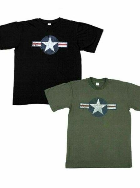 USAF Air Corps Kokarde T-Shirt Fatigue Vintage US Army Airforce Pilots Marine