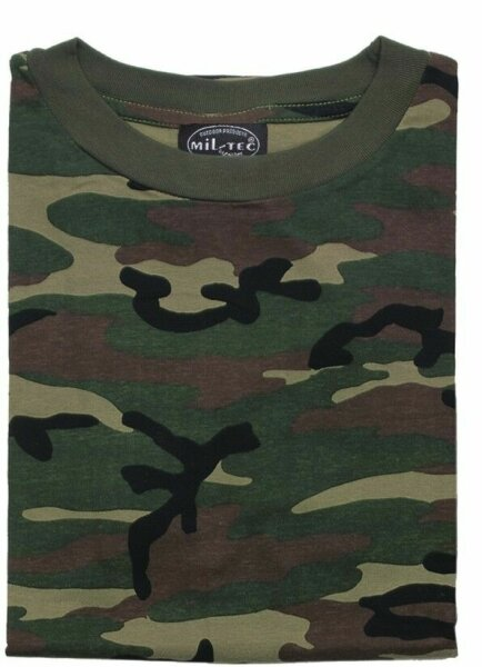 T-Shirt Woodland Tarnung 3-color Camouflage US Army Camo WWII WK2 Irak Isaf Kfor