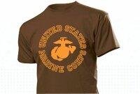 United States Marine Corps T-Shirt Insignia US Army S-XXL Drill Instructor USMC