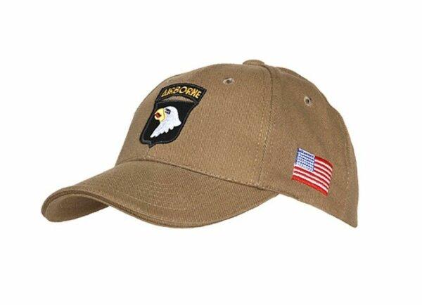 US Army Baseball Cap Sand 101st Airborne Screaming Eagle USMC Marines Vietnam #1