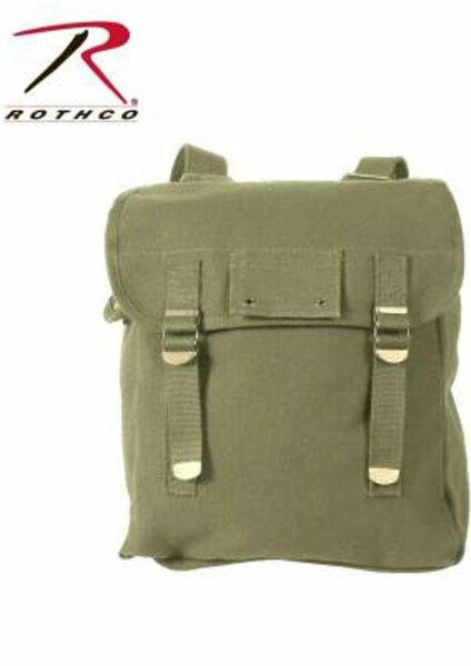 US Army Heavyweight Canvas Musette Bag Oliv Sturmgepäck Kampftasche Marines USMC