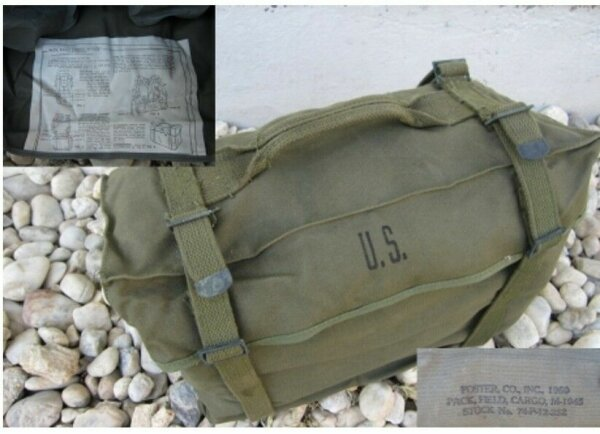 US Army Kampftasche M-1945 Original Combat Pack Korea Vietnam WK2 WWII Cargo Bag