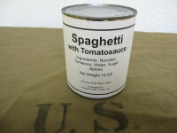 US Army Spaghetti with Tomatosauce Hotpot Canned Field...